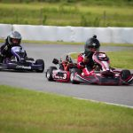 Jace Henley and Darryl Moglia racing their K2 Ignite Karts with custom graphics at BMP's Local Race Series