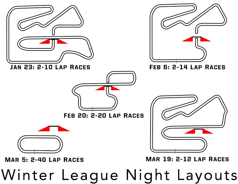 League Layouts Winter